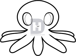 Small Picture How to Draw an Octopus for Kids by Darkonator DrawingHub