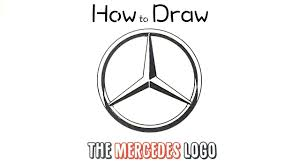 mercedes logo. Brilliant Mercedes How To Draw The Mercedes Logo To