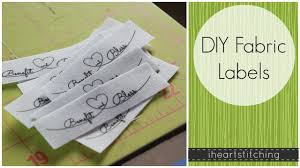 Diy Clothing Label Diy Fabric Labels