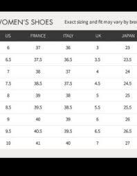 Jean Size Chart Us Steve Madden Shoe Size Chart Www Bedowntowndaytona Com