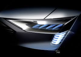 signature lighting. Audi E-tron Quattro Concept \u2013 Headlight With Light Signature New Lighting