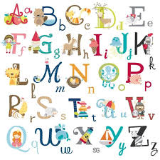 big graphic alphabet letters kids room nursery wall decal stickers