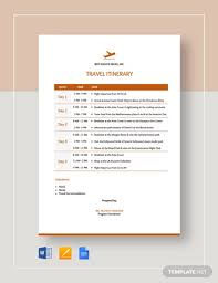 Free 17 Travel Itinerary Examples Templates Download Now