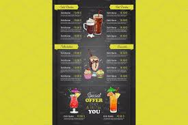Drinks Menu Template 24 Best Food Drink Menu Templates Design Shack 1
