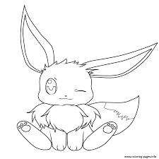 Eevee Coloring Pages Compromise 34 Pokemon Evolutions Best Free