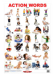 Action Words Chart With Pictures Alka Publications Big Educational Chart