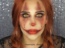 the grungy glitter glam clown look