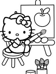 Printable drawings and coloring pages. Hello Kitty Tea Party Coloring Pages Cartoons Coloring Pages Free Printable Coloring Pages Online