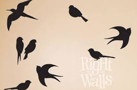 amazing birds wall art interior decor home bird silhouette vinyl decal animal metal stickers diy images canvas