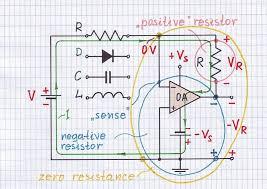 op amp acting as a negative resistor jpg