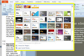 themes for ms powerpoint free powerpoint test working with themes in powerpoint test ms