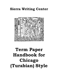 Term Paper Handbook For Chicago Turabian Style