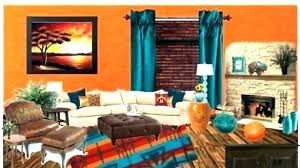 new orange living room decor for blue and orange living room decor teal burnt grey 65