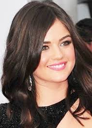 lucy hale in makeup for fair skin brown hair and green eyes