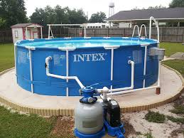 intex ultra frame above ground pools. Exellent Frame Here Is An Example Of One The Stepping Stones There Are 7 In Total  Placed Around Pool To Use While Cleaning In Intex Ultra Frame Above Ground Pools