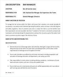 Hotel General Manager Job Description Endearing Hotel General ...