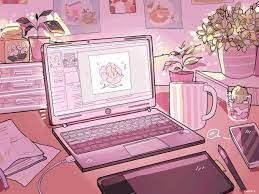 Soft Aesthetic Cartoon Laptop ...