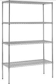 48 inch w 4 tier heavy duty wire shelving unit in chrome the 48 inch w 6 tier heavy duty wire shelving unit in chrome business equipment in