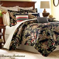 Jungle Drive Black Tropical forter Bedding by Tommy Bahama