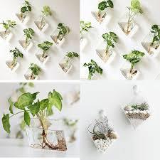mkono 2 pack wall hanging terrarium glass planter diamond decorative objects new 602716588171