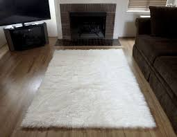 white fur area rug outstanding for faux with how to make the wooden houses image of persian cowhide black and flokati fake polar bear ikea animal mink
