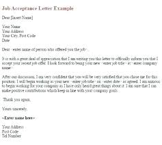 accept a job offer resignation letter in ms word of template for not accepting job
