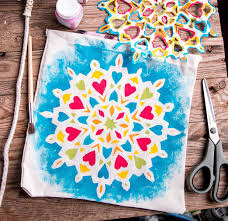 easy mandala painting for kids on t shirts and other fabrics oh the things we ll make