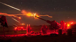 Marine Artilery Check Out This Awesome Image Of The Us Marines Firing Artillery At Night