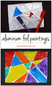 Aluminum foil paintings | Painting on foil | Children's art | Kids art  projects ||