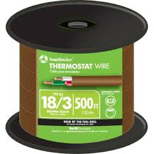 southwire 500 ft 18 3 brown solid thermostat wire 64168845 the 2 Wire Thermostat Home Depot 18 3 brown solid thermostat wire Home Depot Line Voltage Thermostat