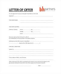 Property Offer Letter Templates Free Word Format Download