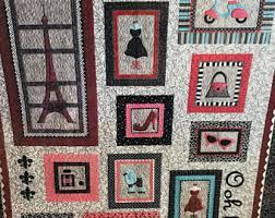 Ooh la la embroidery | Etsy & Ooh la la! machine embroidery applique quilt pattern by Lunch Box Quilts Adamdwight.com