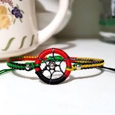 Bob Marley Dream Catcher Bob Marley 100 for 100 ⇨ Rasta Dream Catcher Beaded Bracelet from 68