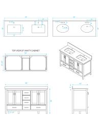 60 sheffield double sink vanity dimensions