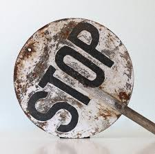 Image result for vintage stop sign