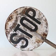 Image result for vintage stop sign