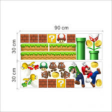 super mario wall stickers theme bedroom decor you sheet set kart decals bedding full size brothers