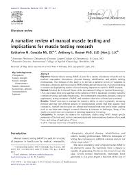 Mmt Grades Pdf A Narrative Review Of Manual Muscle Testing And
