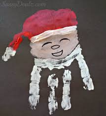Christmas Arts And Crafts For Kids Santa Claus Handprint Christmas Craft For Kids Crafty Morning