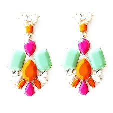 multi colored chandelier 6 light inch acrylic earrings