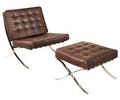 modern leather chair. Trendy Idea Mid Century Modern Leather Chair Stylish Design And Ottoman Omry Midcentury M