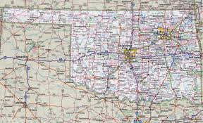 large detailed roads and highways map of oklahoma state with
