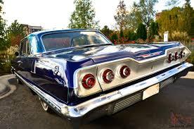 Chevy Impala (Custom Blue 2 door 63 chevy Impala) look 12 pictures