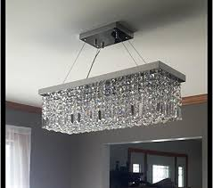 reflections glow sheer shade foyer crystal chandelier flush mount lm sp w c marvelous rectangular crystal chandelier