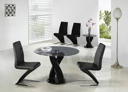 twirl designer round glass dining table