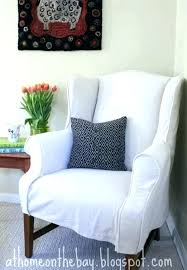 box cushion chair slipcovers for chairs with square wing slipcover house bo box cushion slipcovers