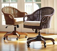 rattan swivel desk chair home s on houzz