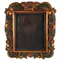 painted wood picture frames. Painted Carved Wood Picture Frame - For 8 X 10 Frames
