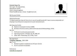 Example Of A Simple Resume For A Job Examples Of Resumes