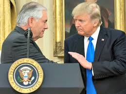Image result for pictures of trump and rex tillerson
